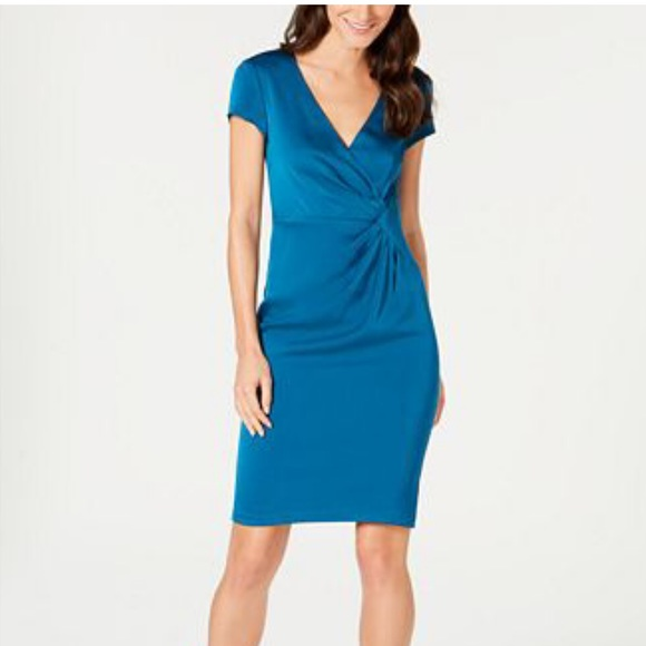 Nanette Lepore Dresses & Skirts - Nanette Lepore City Ruched Sheath Dress 8